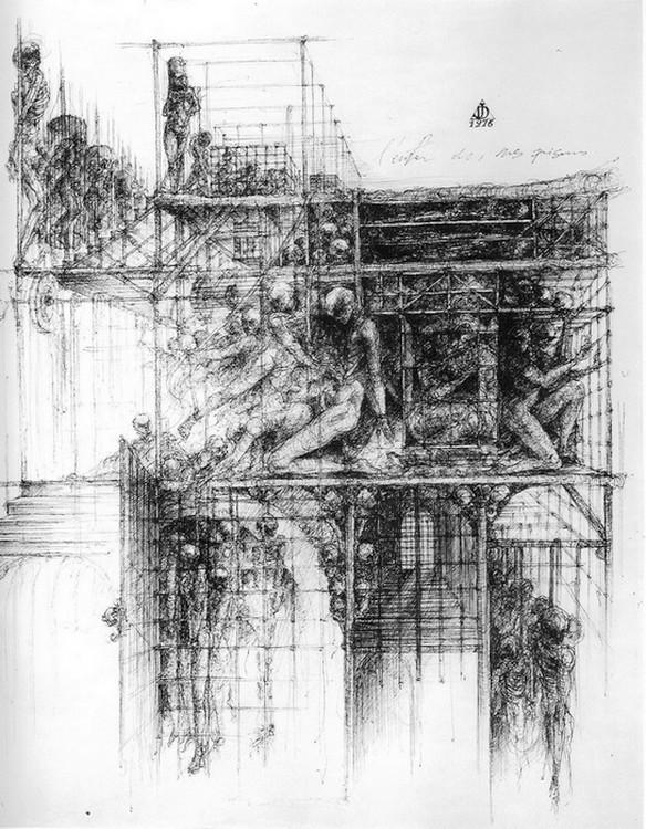 dessin deffontaine, l`enfer de mes prisons, 1976