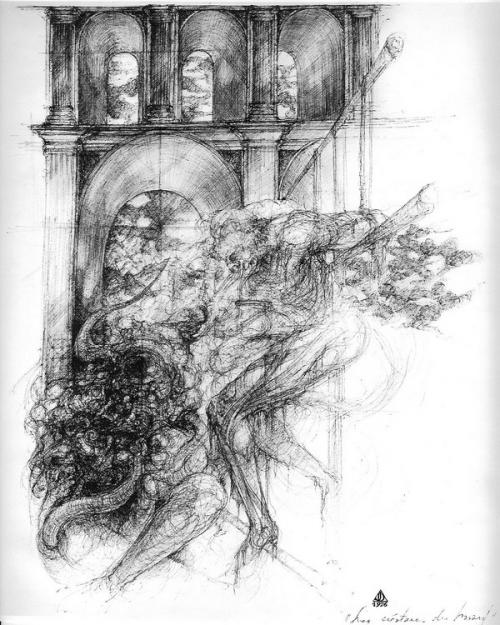 dessin deffontaine, les créatures du hasard, 1976