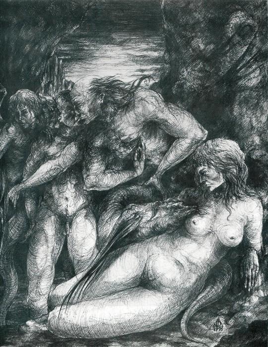 dessin deffontaine, la proie des ombres, 1976