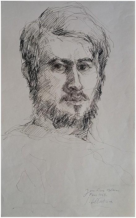 portrait J.P.M. Paris 1968