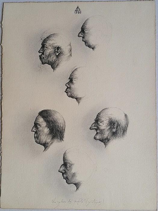 La galerie des profils, grotesques, 1980