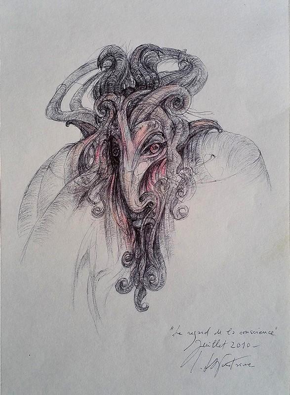 Le regard de la conscience 19x27, 2010