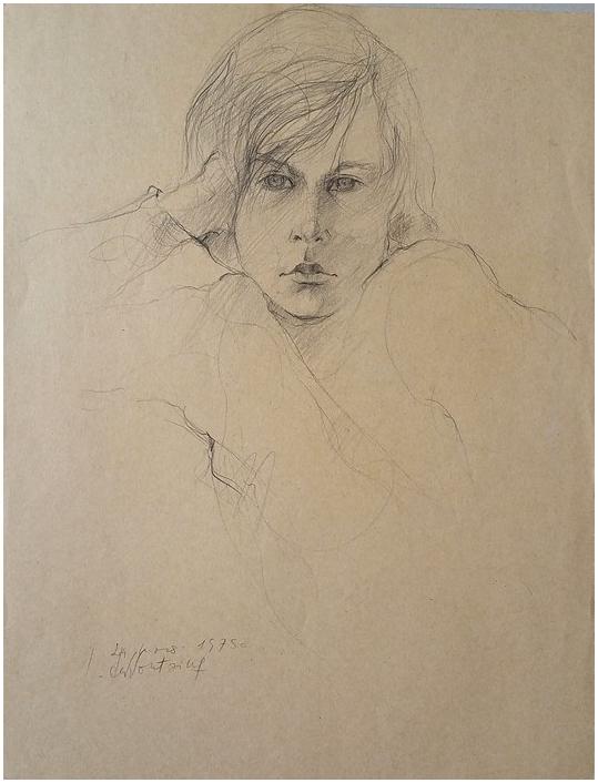 Portrait d`un modèle, 1975